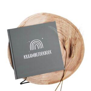 Kraambezoekboek groengrijs