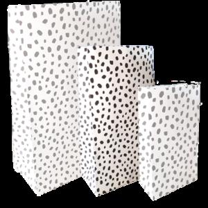 Kraft papieren zakje zwart wit